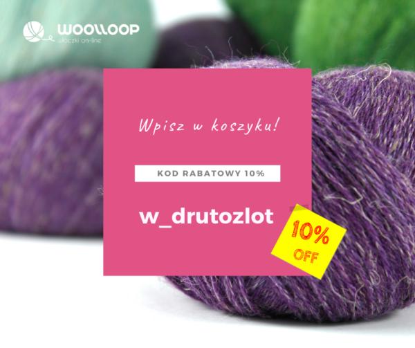 motki fioletowej wełny i kod rabatowy na włóczki 10% w sklepie woolloop