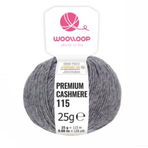 25g wloczka kaszmir premium 6 28 ciemnoszary 12 woolloop etykieta