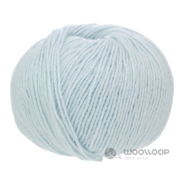 25g wloczka kaszmir premium 6 28 pastelowy niebieski 240 woolloop 1 1