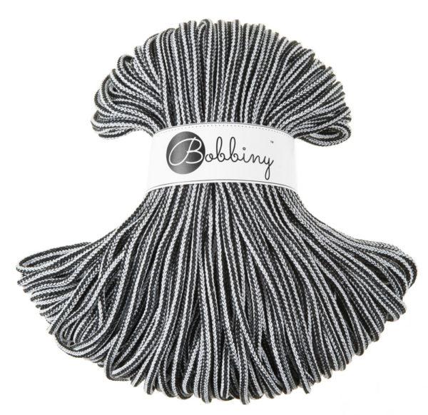 BOOBINY sznurek Premium 100m CZARNO BIALY 2602