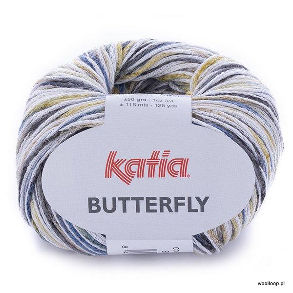 Butterfly 80 żółto-zielony-jeansowy-szary