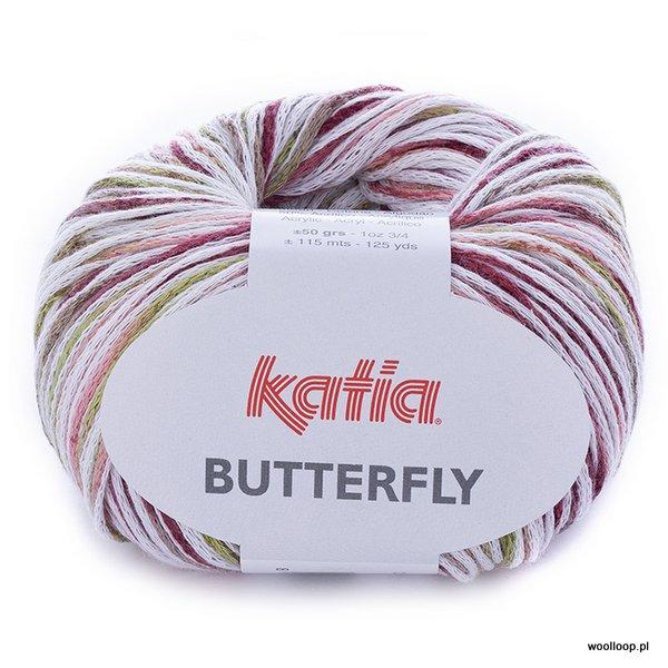 Butterfly 81 czerwony-pistacjowy