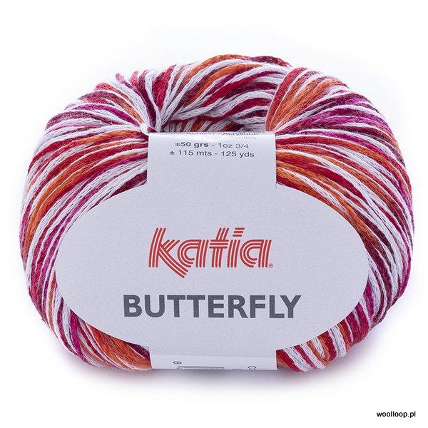 Butterfly 83 czerwony-fuksja-pomarańczowy