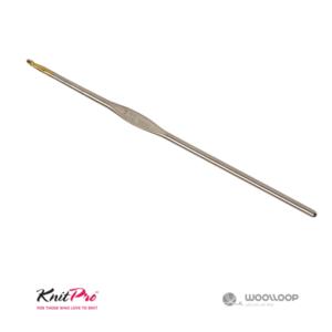 Cienkie szydełko stalowe Knit Pro ze złoconą końcówką woolloop