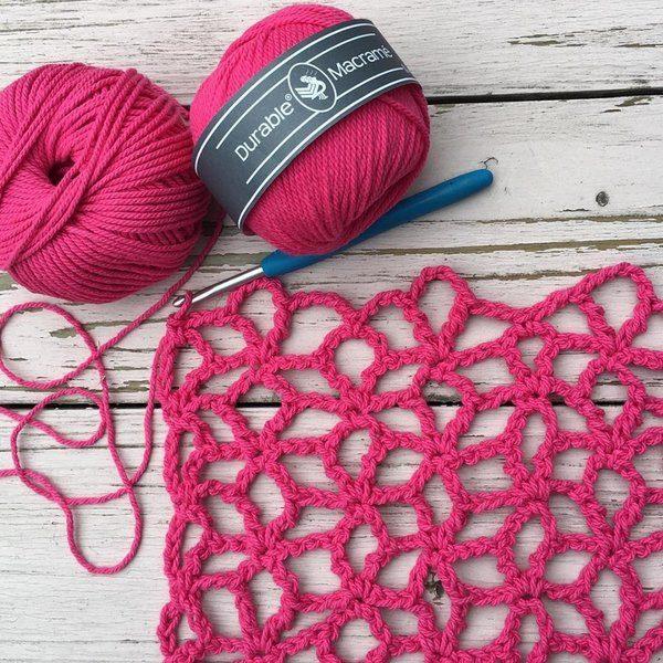 Durable Macrame scieg Lacy Star Flower Stitch woolloop