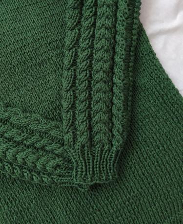Dziergane warkocze w sweterze z wloczki bawelnianiej Must have Yarn and Colors woolloop