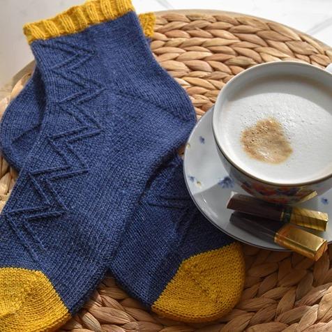 Krufka Socks @pasje kaski z wloczki Cool Wool Performance