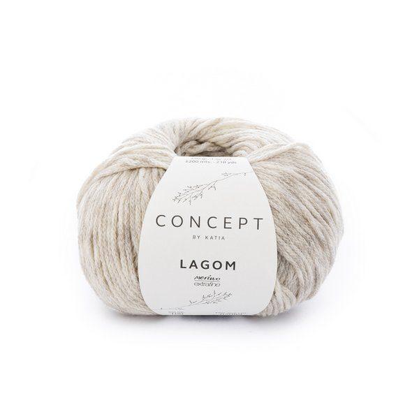 wloczka Katia Concept LAGOM 100 bardzo jasny szary woolloop