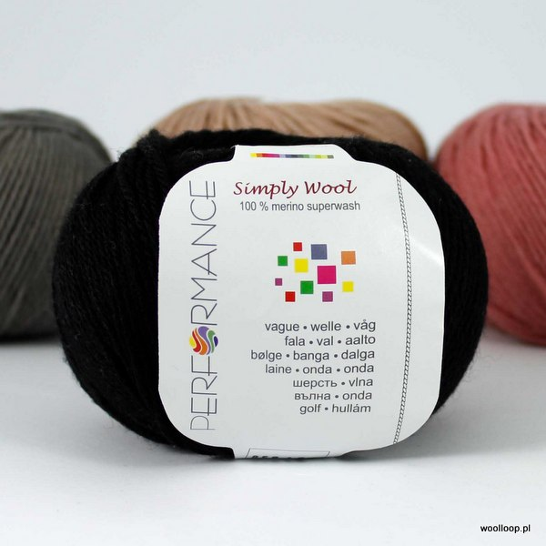 Simply Wool 01 czarny