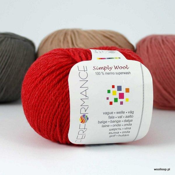 Simply Wool 09 czerwony