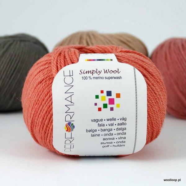 Simply Wool 17 koralowy