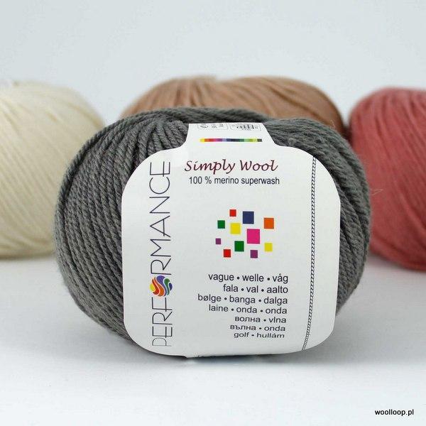 Simply Wool 235 oliwkowa szarość