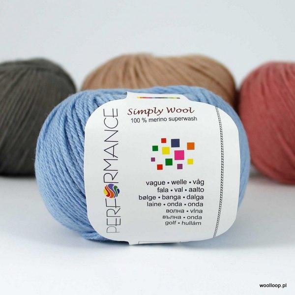 Wloczka performance simply wool 89 niebieski woolloop 001