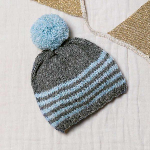 czapka na drutach z włóczki Katia Lagom woolloop
