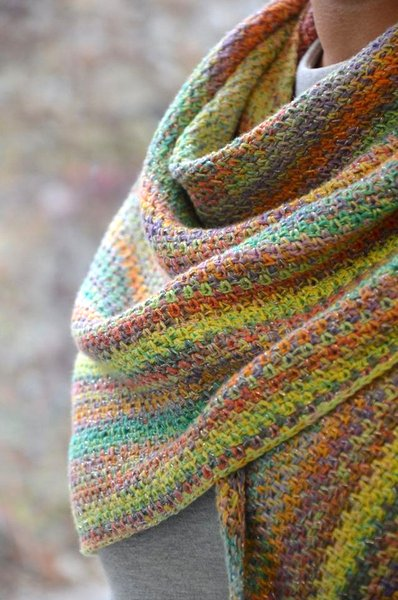 chusta z wloczki Katia Funny Rainbow Star woolloop
