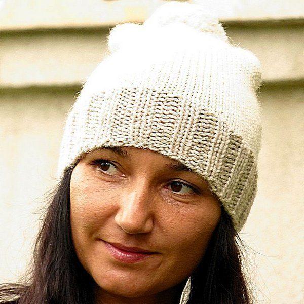 czapka na drutach z wloczki Novita Isoveli Hyggella darmowy wzor