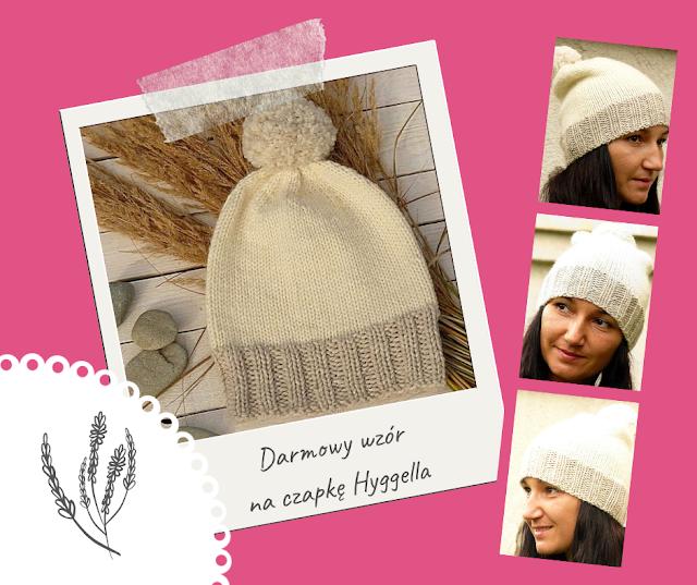 darmowy wzor na czapke Hyggella z wloczki Novita Isoveli woolloop autor Aga Tutak