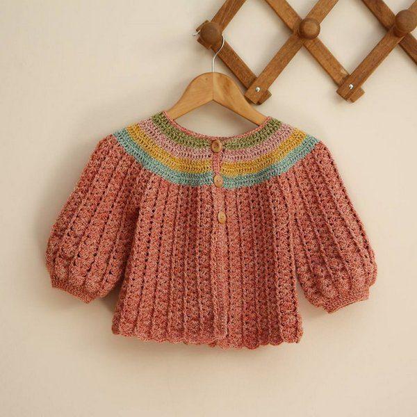 dzieciecy sweterek z wloczki Performance Wooly Cotton woolloop