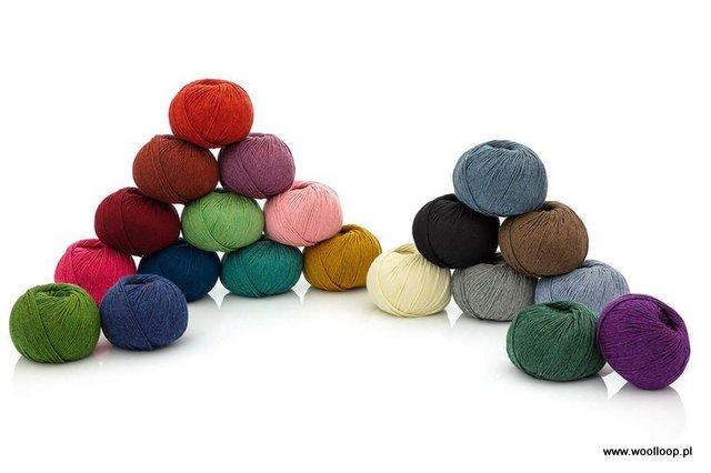 kolorowe motki wloczki alpaka woolloop