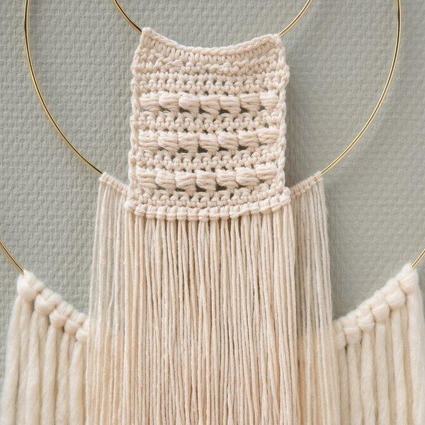 makrama na obreczy z wloczki bawelnianej Epic yarn and colors woolloop