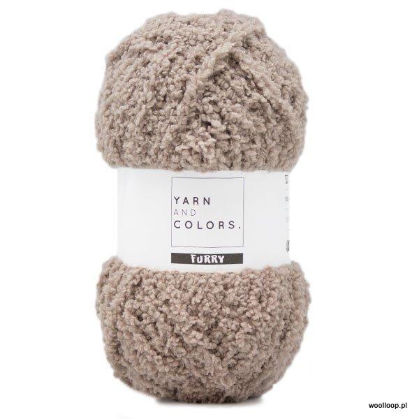 motek wloczki Furry Yarn and Colors jasny bez