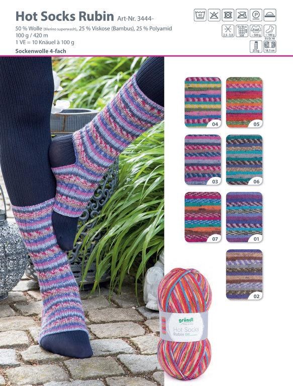 paleta kolorow Hot Socks Rubin Grundl woolloop