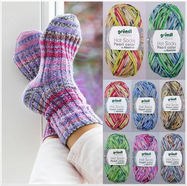 paleta kolorow wloczki Grundl Hot Socks Pearl color