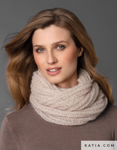 pattern knit crochet woman cowl autumn winter katia 5946 29b g