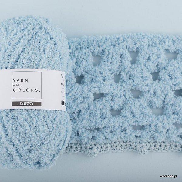 probka na szydelku wloczki FURRY Yarn and Colors