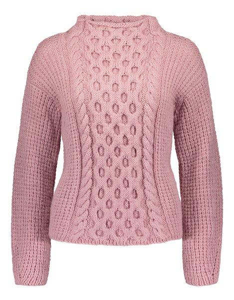 rozowy sweter z wloczki Novita 7 Brothers 053 woolloop