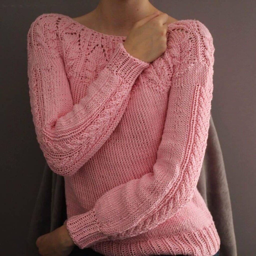 sweter z karczkiem sweter z włoczki bawelnianej Super Must have woolloop
