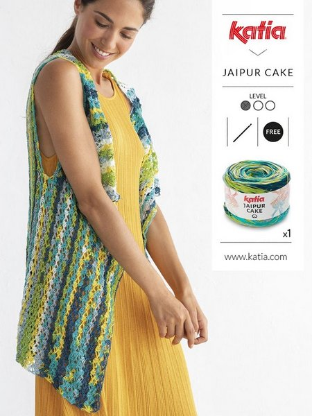 szydelkowa narzutka z wloczki Jaipur Cake woolloop