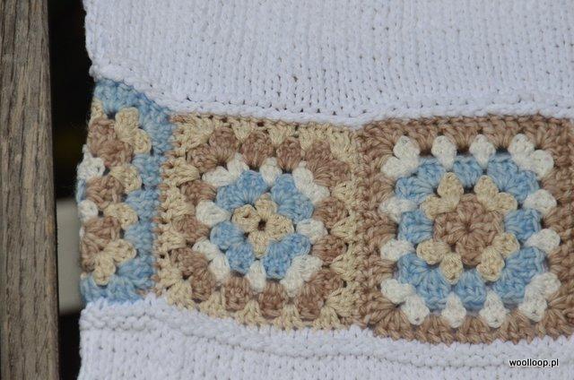 szydelkowe granny squares z wloczek yarn and colors woolloop