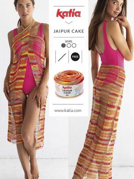 szydelkowe pareo z wloczki Jaipur Cake woolloop
