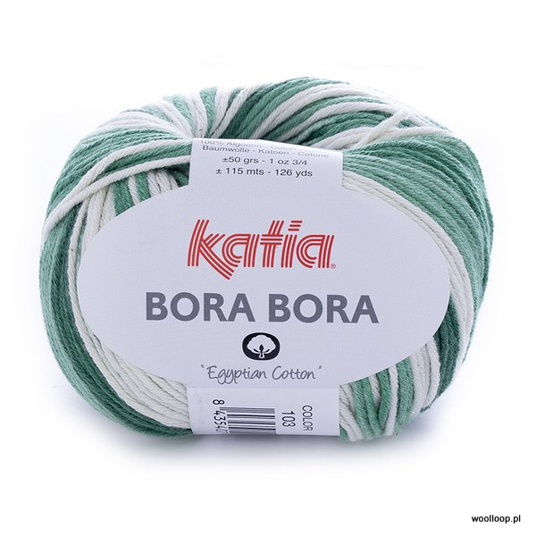 Bora Bora 103 – zielono – biały (duży wzór)
