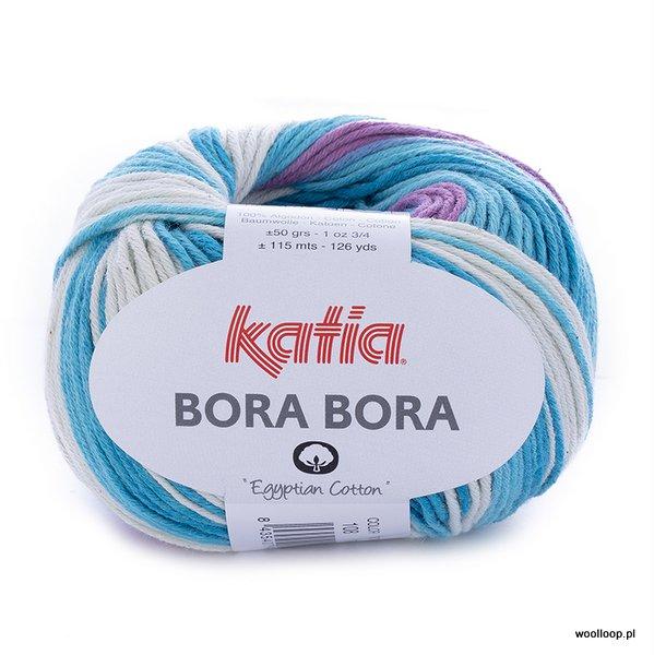 Bora Bora 108 – turkusowo – liliowy (duży wzór)
