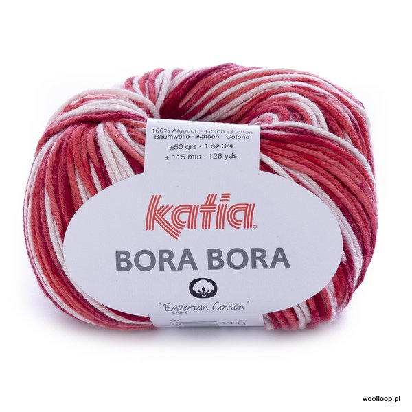 Bora Bora 50 – kremowo-czerwony
