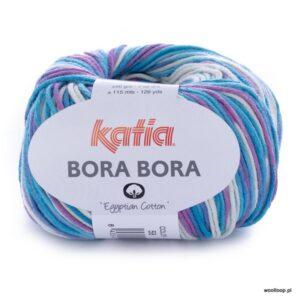 wloczka Katia BORA BORA kolor 58 turkusowo fioletowy woolloop