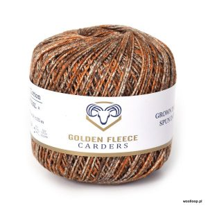 wloczka bawelniana Earth 1112 autumn jesien 100 bawelna egipska Golden Fleeece Carders woolloop