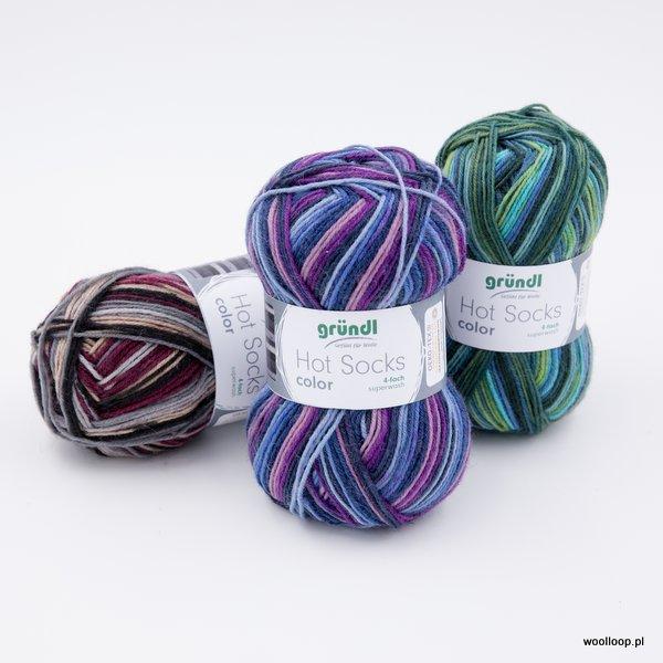 wloczka skarpetkowa Grundl Hot Socks color woolloop