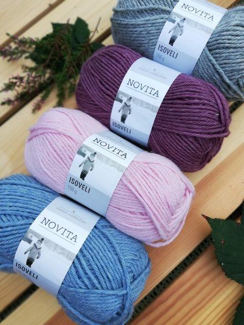 wloczka skarpetkowa Novita Isoveli rozne kolory woolloop