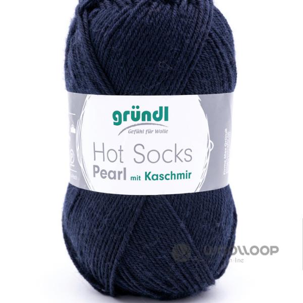 wloczka skarpetkowa z kaszmirem Hot Socks Pearl uni Grundl kolor 09 woolloop