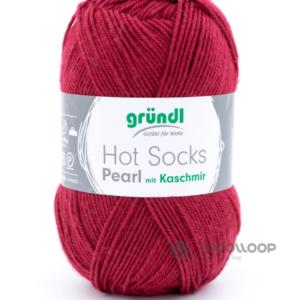 wloczka skarpetkowa z kaszmirem Hot Socks Pearl uni Grundl kolor 14 woolloop
