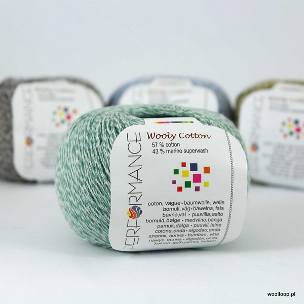 Wooly Cotton 135 miętowy