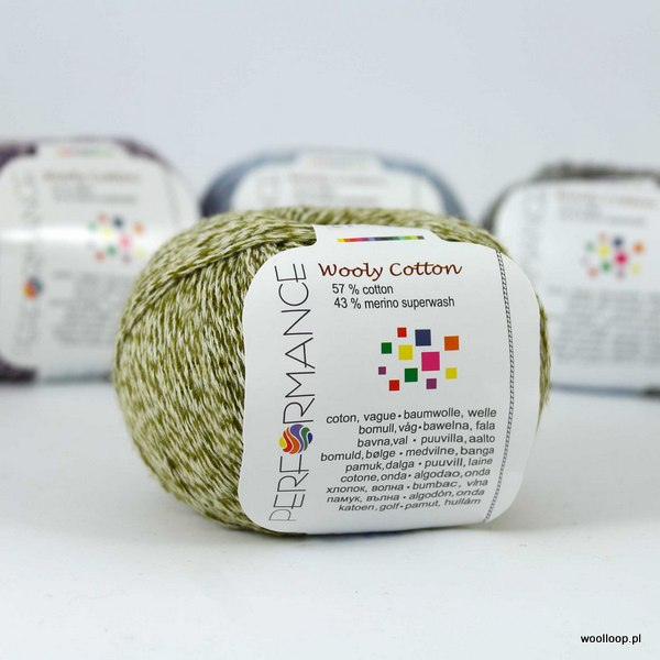 Wooly Cotton 153 oliwkowy