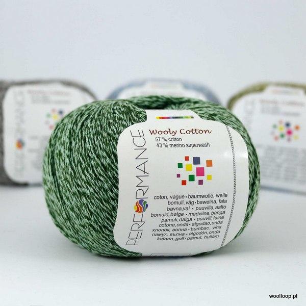 Wooly Cotton 163 szmaragdowo-zielony