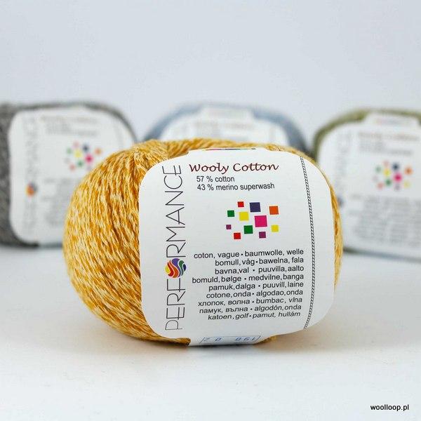 Wooly Cotton 190 musztardowy