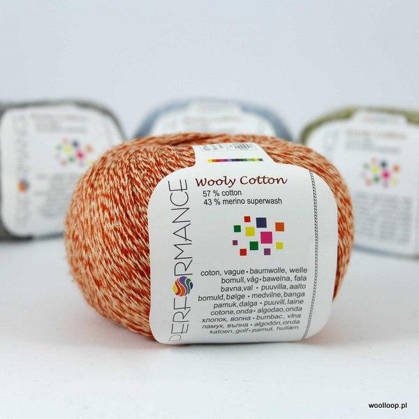 Wooly Cotton 198 pomarańczowy