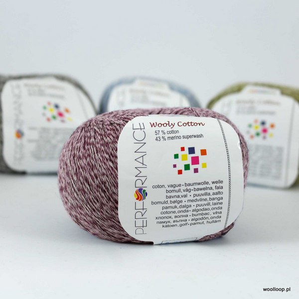 Wooly Cotton 24 burgund
