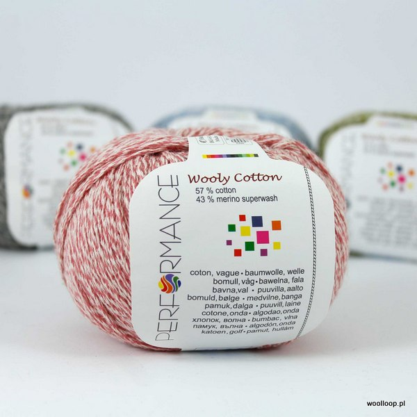 Wooly Cotton 28 różowy